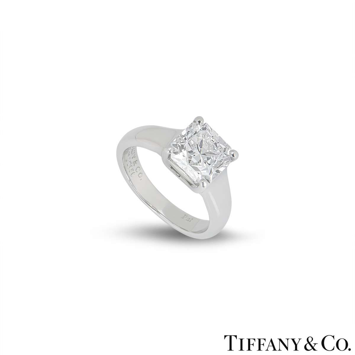 solitaire platinum estate lucida diamond co and carat tiffany